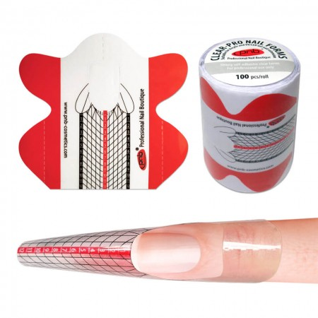 Форми для моделювання прозорі (PVC-пластик) / Clear-Pro Nail Forms PNB