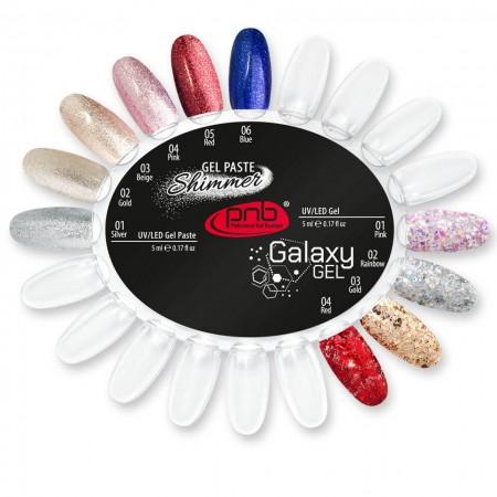 Палитра цветов Galaxy Gel и Shimmer Gel Paste