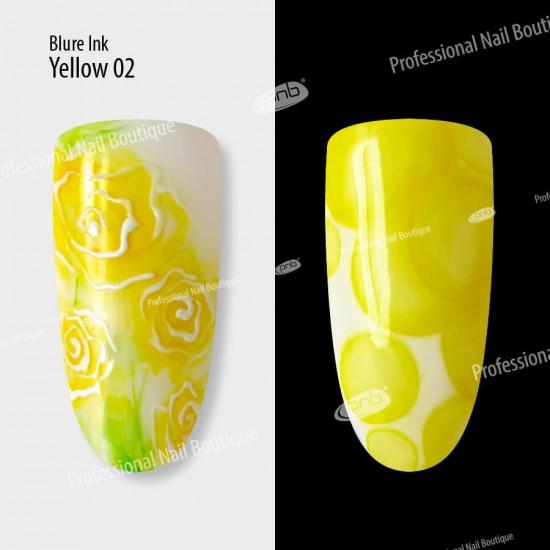 Акварельные капли чернила Blur 02 желтые