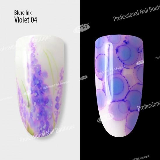 Акварельные капли чернила Blur 04 фиолетовые