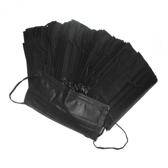 Защитные маски для мастеров маникюра, черные, 50 шт