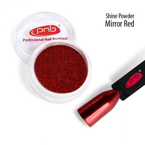 Зеркальная втирка пудра PNB, красная