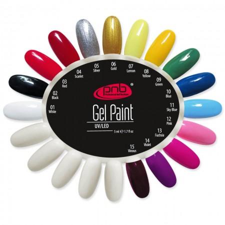 Палитра гель-красок PNB  (1-15 цвет)