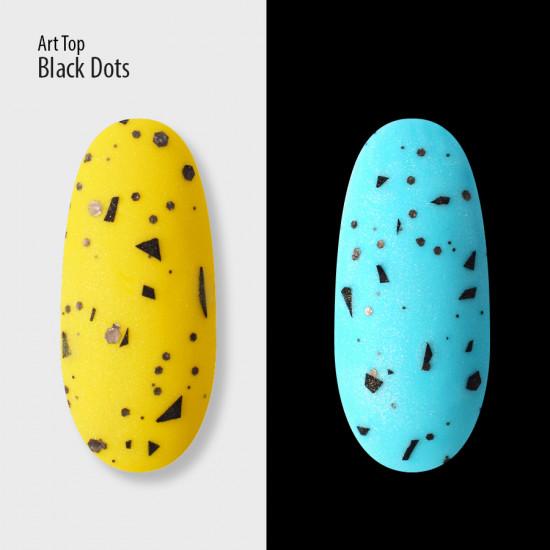 Art Top Black Dots, matte, no wipe, 8 ml