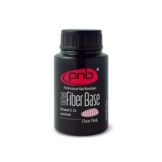 База с нейлоновыми волокнами Fiber Base PNB, прозрачно-розовая, 30 мл