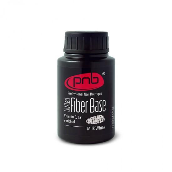База с нейлоновыми волокнами Fiber Base PNB, молочно белая, 30 мл