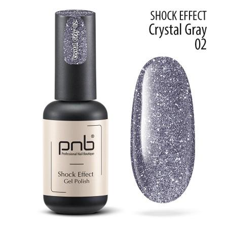 Гель лак PNB Shock Effect, Crystal gray 02