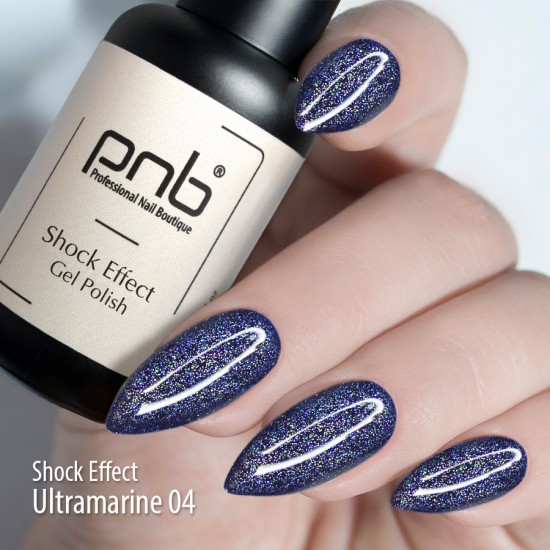 Гель лак PNB Shock Effect, Ultramarine 04