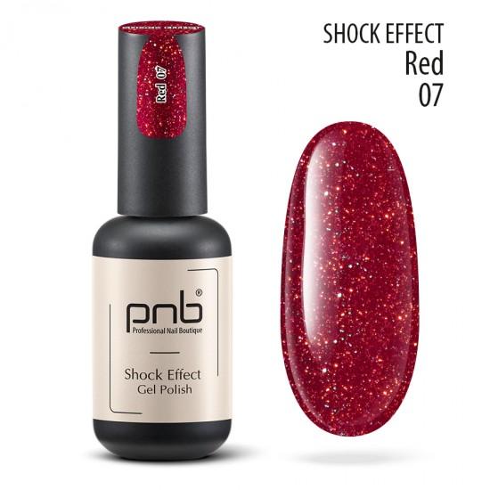 Гель лак PNB Shock Effect, Red 07