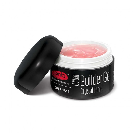 UV/LED One Phase Builder Gel Crystal Pink 15ml / Гель прозрачно-розовый