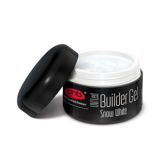 UV/LED Builder Gel Snow White 15 ml / Гель білосніжний