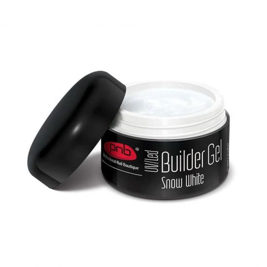 UV/LED Builder Gel Snow White 15 ml / Гель белоснежный белый