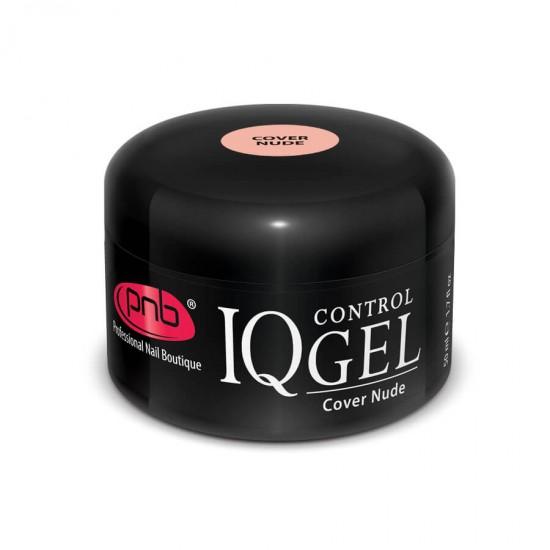 IQ Control Gel Cover Nude / Камуфлюючий нюдовий, бежево-рожевий гель 50 ml
