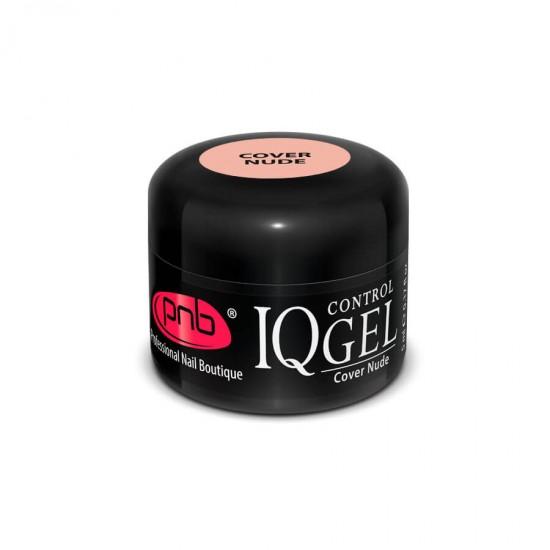IQ Control Gel Cover Nude / Камуфлирующий нюдовый, бежево-розовый гель PNB 5 ml