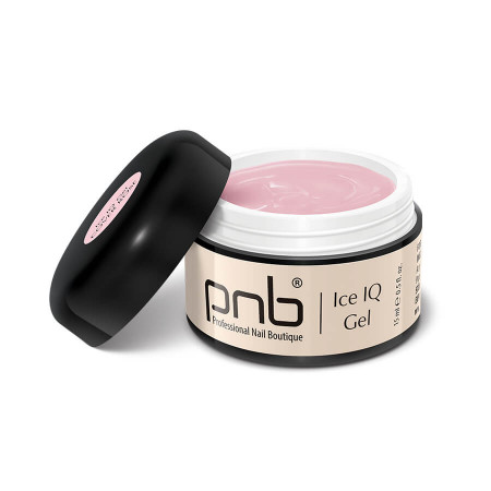 Низкотемпературный дымчато-розовый гель / UV/LED Ice IQ Gel, Cover Rose PNB, 15 ml