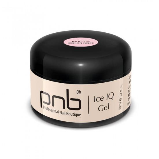 Низькотемпературный димчато-рожевий гель / UV/LED Ice IQ Gel, Cover Rose PNB, 50 ml