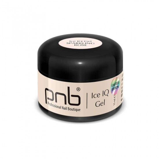 Низькотемпературный молочно-рожевий гель / UV/LED Ice IQ Gel, Sparkling Rose PNB, 15 ml