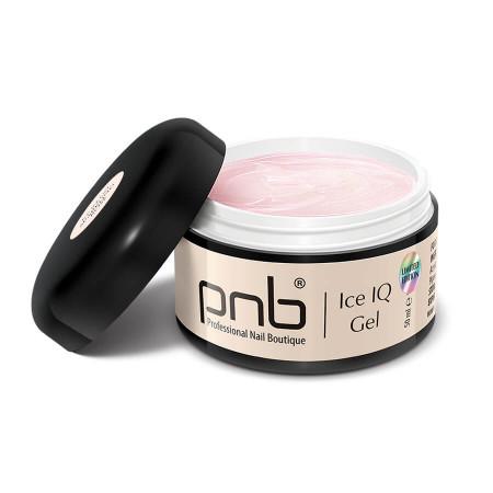 Низькотемпературный молочно-рожевий гель / UV/LED Ice IQ Gel, Sparkling Rose PNB, 50 ml
