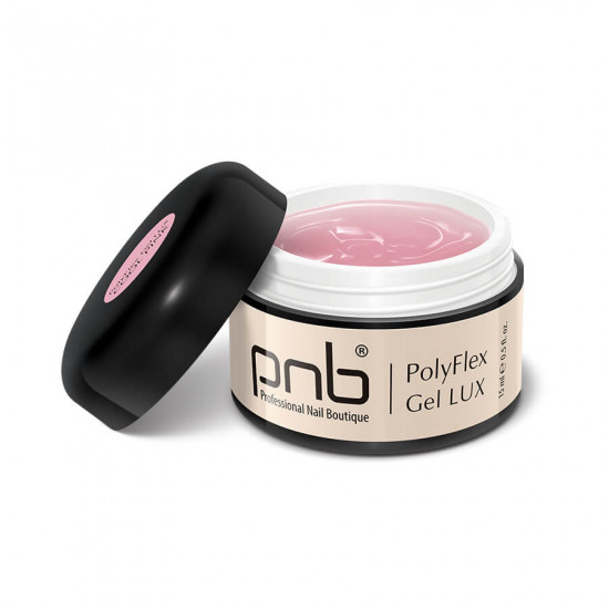 Поліфлекс гель холодний рожевий / UV/LED PolyFlex Gel LUX, Cool Pink, 15 ml