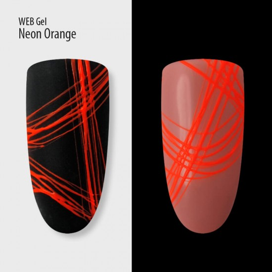Гель паутинка PNB оранжевая, неон