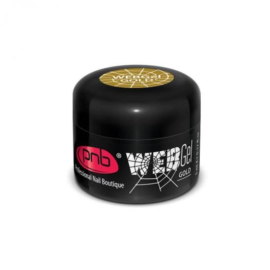 Гель паутинка золото PNB / UV/LED Web Gel Gold