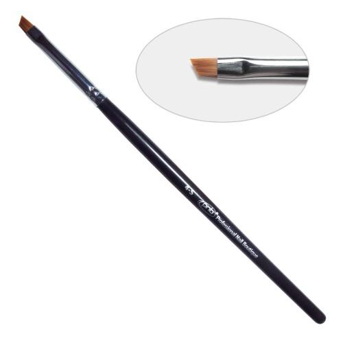 5D. Кисть для дизайна скошенная 4-s PNB, нейлон / Nail Art Brush slant 4-s, nylon
