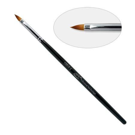 12 D. Кисть для дизайна «лепесток» 2-s, нейлон / Nail Art Brush oval sharp 2-s PNB, nylon