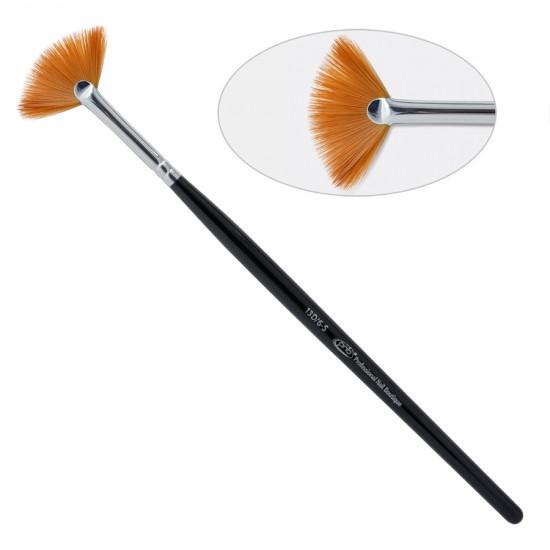 13 D. Кисть для дизайна веерная 6-s ПНБ, нейлон / Nail Art Brush Fan 6-s PNB, nylon