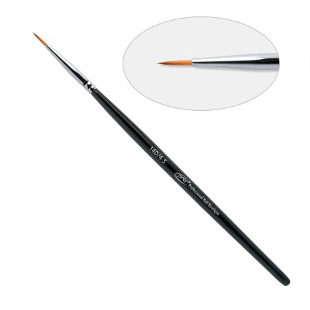 14 D. Кисть для дизайна круглая 4-S ПНБ, нейлон / Nail Art Brush round 4-S PNB, nylon