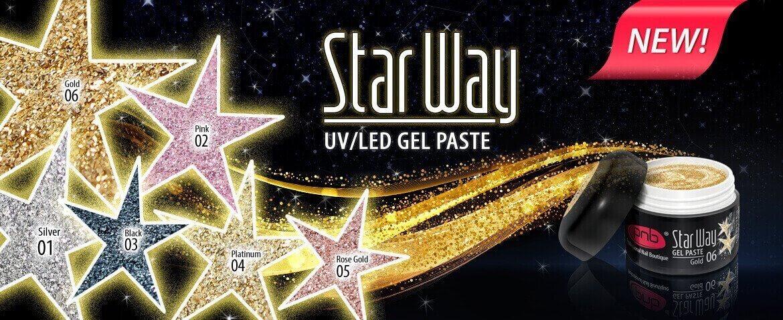 Глиттерные гель-пасты Star Way